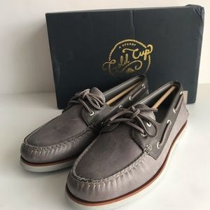 SPERRY MEN'S GOLD CUP A/O 2 EYE BOAT SHOES SZ 9